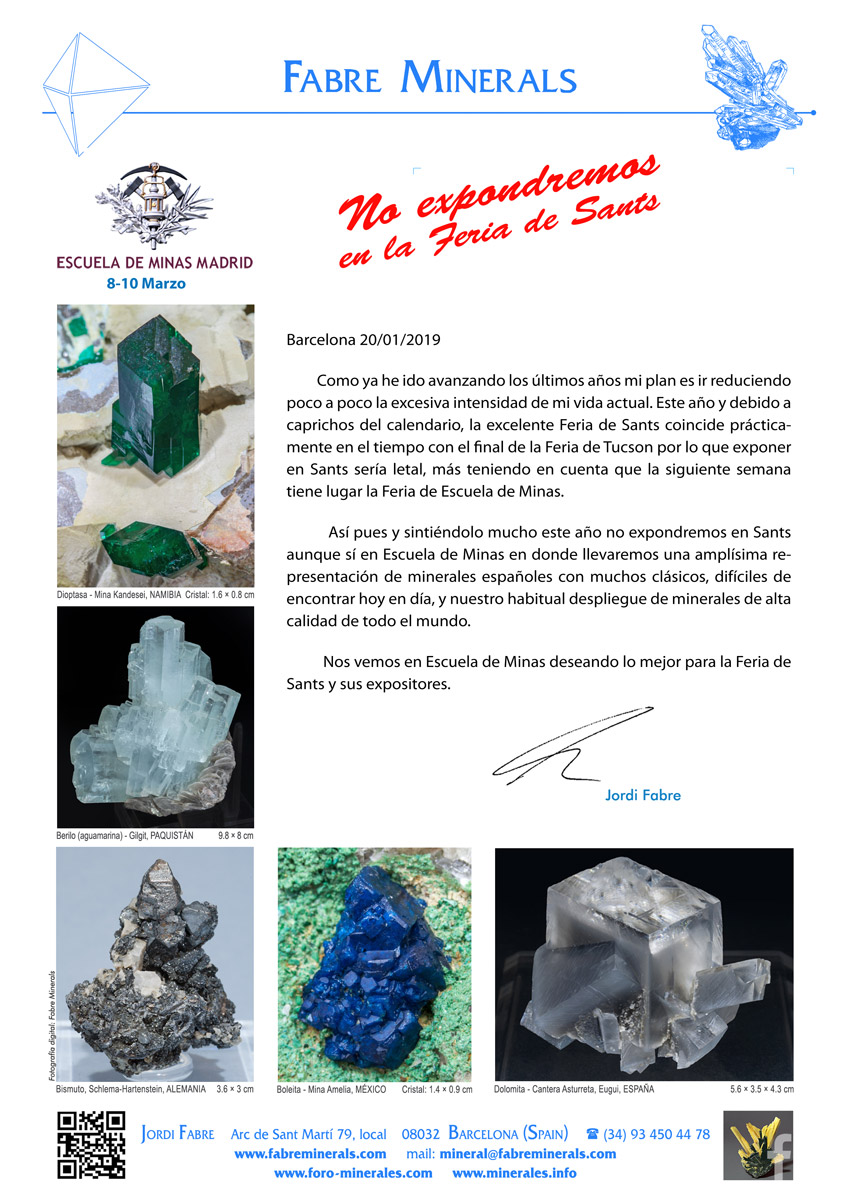 Mineralexpo - Escuela de Minas 2019