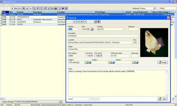Freeware: Mineral Database