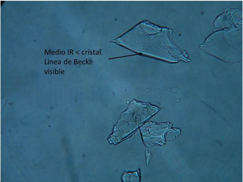 Como utilizar el índice de refracción (IR) para determinar especies minerales