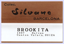 Silvane collection label