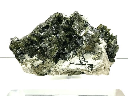 Titanite on Microcline with Ferro-actinolite.