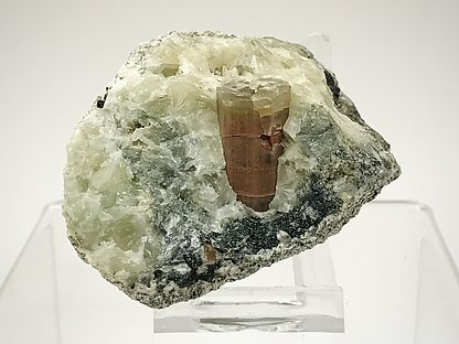 Fluorapatite on Prehnite.