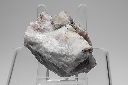 Rhodizite with Elbaite, Quartz and Feldspar.
