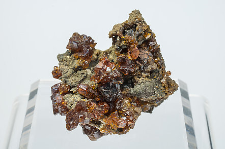 Sphalerite with Siderite and Pyrite.
