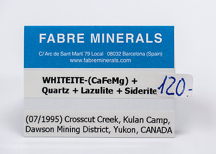 Whiteite-(CaFeMg) with Quartz, Lazulite and Siderite