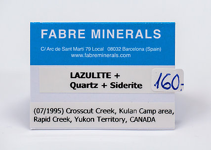 Lazulite with Quartz and Siderite