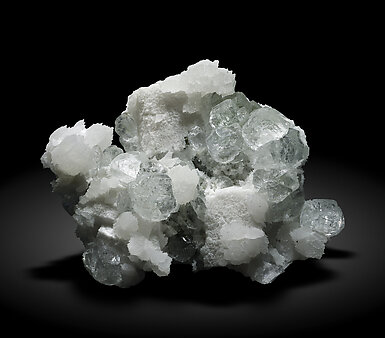 Fluorite with Pyrite, Dolomite and Calcite.