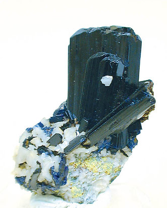 Azurite on Dolomite.