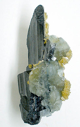 Fluorapatite on Ferberite.