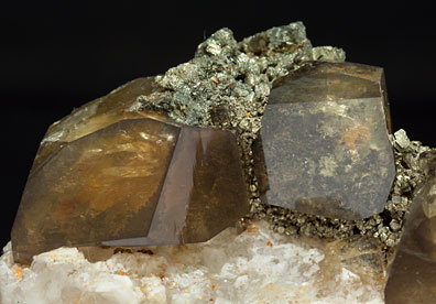 Baryte with Pyrite and Quartz.