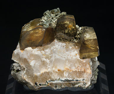 Barite with Pyrite and Quartz.