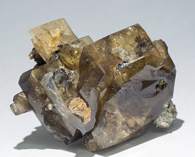 Barite with Pyrite.