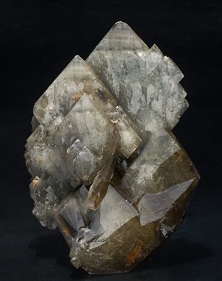 Baryte with Pyrite. Front