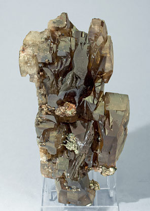Barite with Pyrite. Front