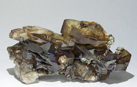 Barite with Pyrite. Side