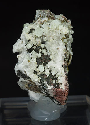 Scheelite with Andradite, Epidote and Chlorite. Rear