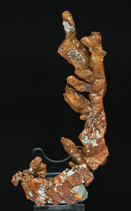Copper with Calcite. Rear