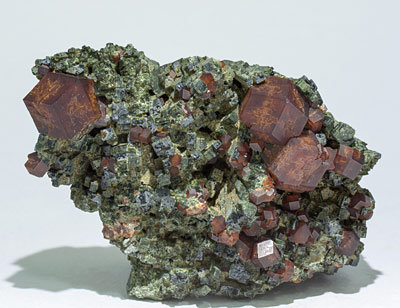 Andradite with Hedenbergite.