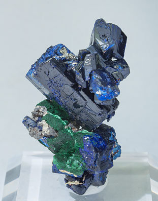 Azurite with Malachite, Cerussite and Dolomite.