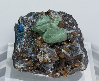 Brazilianite with Siderite and Quartz.