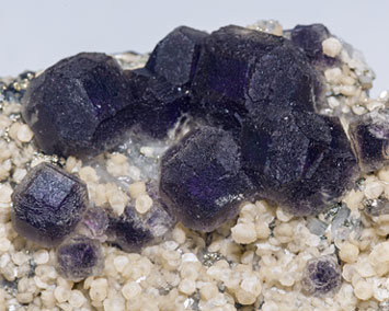Fluorite with Siderite and Quartz.
