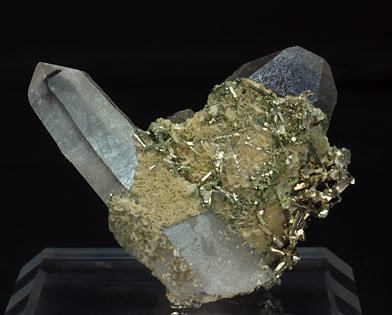 Pyrite on Quartz with Siderite.