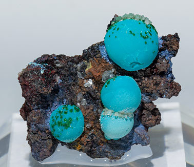 Chrysocolla with Malachite.