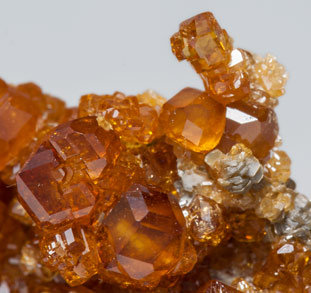 Grossular (variety hessonite) with Clinochlore.