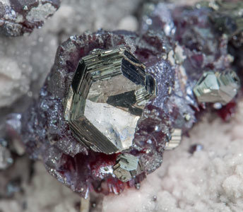 Pearceite-T2ac with Proustite and Rhodochrosite.
