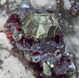 Pearceite T2ac with Proustite and Rhodochrosite.