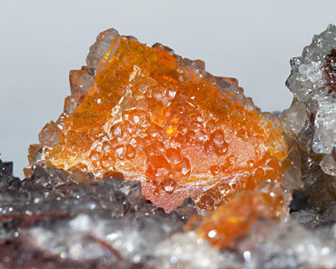 Wulfenite with Quartz.