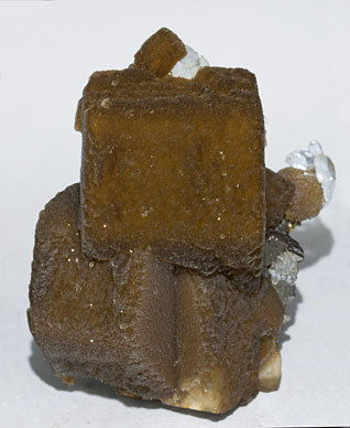 Siderite with Quartz and Arsenopyrite.