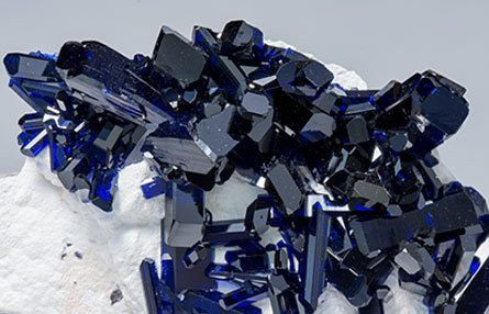 Azurite with Dickite.
