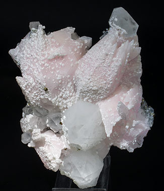 Calcite with Quartz, Dolomite and Chalcopyrite. Front