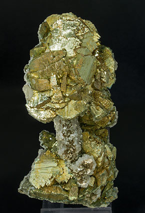 Arsenopyrite-Marcasite with Calcite and Muscovite.