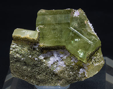 Fluorite with Fluorapatite and Muscovite.
