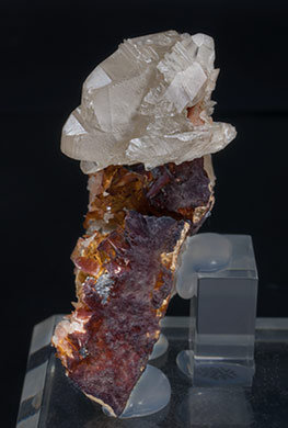 Cerussite with Baryte. Side