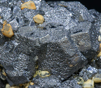 Galena with Pyrite and Calcite.