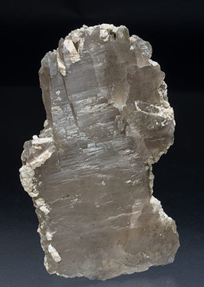 Quartz (variety smoky) with Feldspar. Front