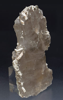 Quartz (variety smoky) with Feldspar. Side