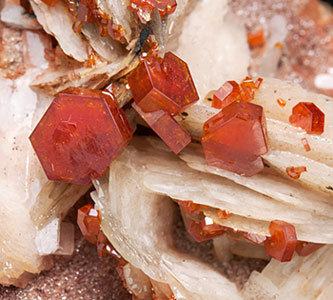 Vanadinite on Barite.