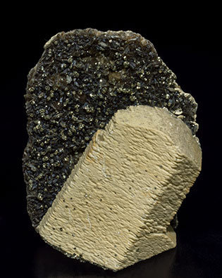 Siderite with Pyrite and Muscovite.