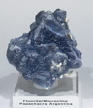 Octahedral Fluorite with Microcline. Front