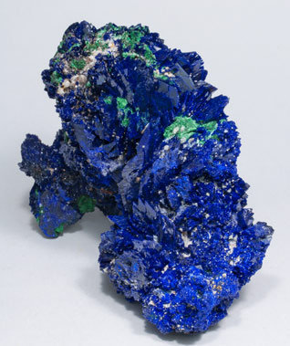 Azurite with Malachite and Baryte.