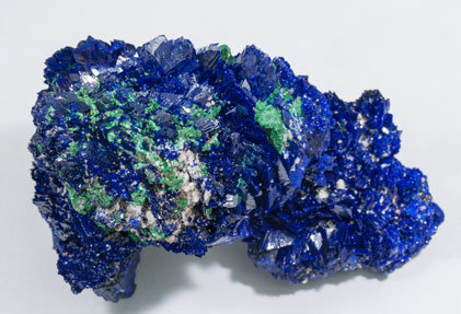 Azurite with Malachite and Baryte. Top