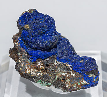 Azurite with Chalcopyrite and Malachite.