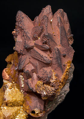 Dolomite after Calcite and Hematite.