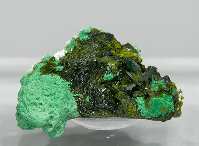 Volborthite with Malachite.