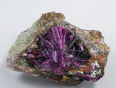 Erythrite with Phlogopite.