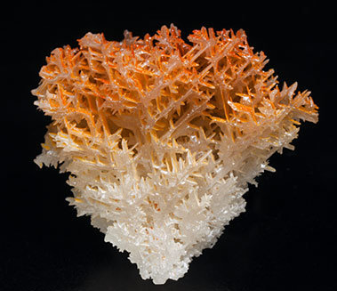 Chromium-rich Mimetite on Cerussite.